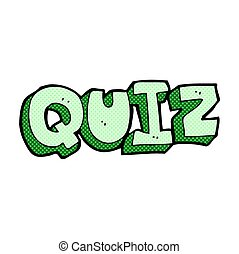 comic cartoon quiz sign