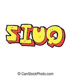 comic cartoon quiz sign