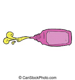 comic cartoon squirting bottle