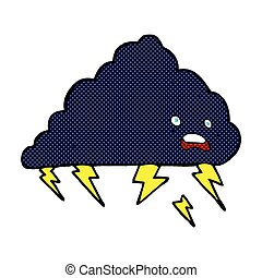 comic cartoon thundercloud