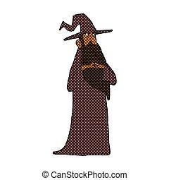 comic cartoon wizard