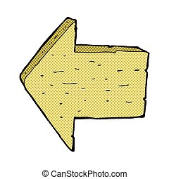 comic cartoon wooden arrow sign