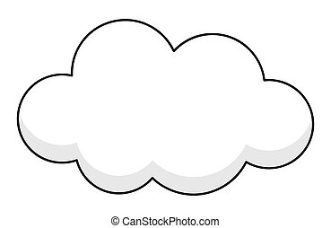 Cloud Banner Abstract Vintage Shape Vector Clipart