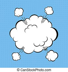 Comic cloud - Cartoon comic book explosion cloud. Vector...