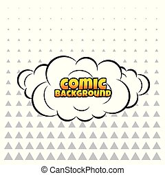 comic cloud or smoke background