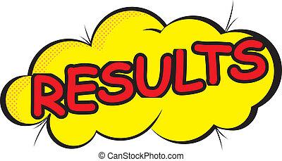Comic Cloud: Results - Power word in yellow comic cloud.