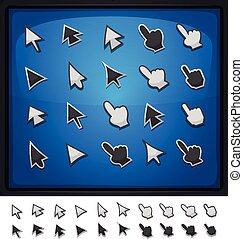 Comic Computer Cursors, Pointers An