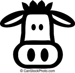 Comic cow head