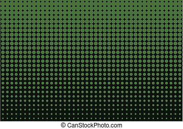 Comic dotted pattern. Green color. Halftone background Vector illustration