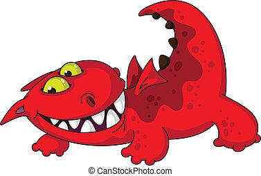 comic dragon - illustration of a comic dragon