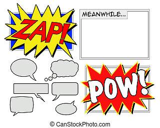 Comic Elements - Illustration of various comic book elements...