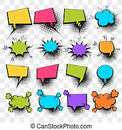 Comic empty text speech bubble 20