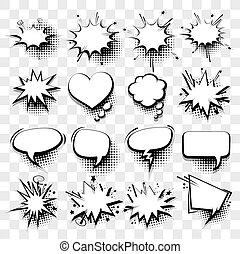 Comic empty text speech bubble 20