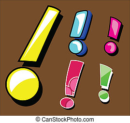 Comic Exclamation Mark Set