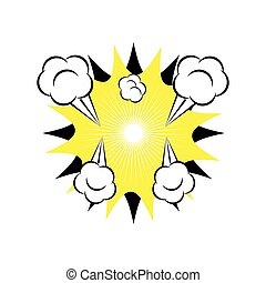 Comic explosion cartoon