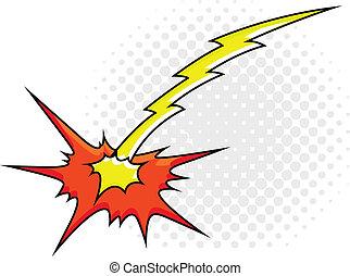Comic Explosion Sparks Light Vector