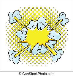 Comic Explosion Vector Illustration