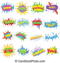Comic Expression - easy to edit vector illustration of comic...