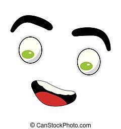 Comic facial expression - Happy comic facial expression....