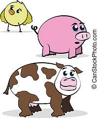 Comic Farm Characters