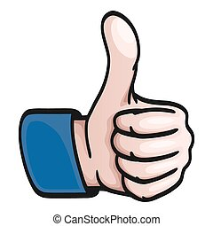 Comic Hand - thumbs up