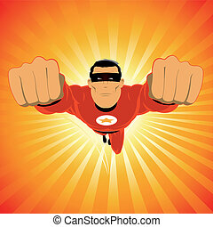 comic-like, rosso, super-eroe