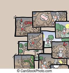Comic mosaic