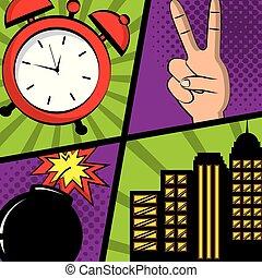 comic pop art
