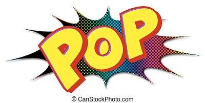 Comic pop lettering