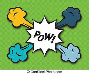 Comic Pow Explosion - Comic pow explosion