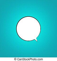 Comic retro speech bubble graphic illustration. Vector cartoon pop art cloud