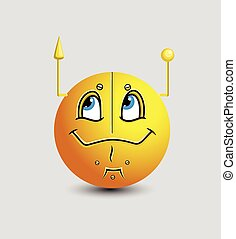 Comic Robotic Emoticon