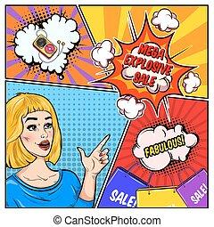 Comic Sale Colorful Template