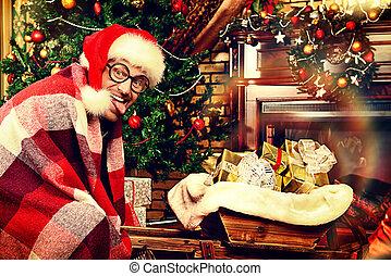 comic Santa