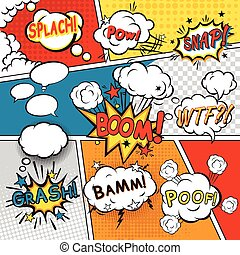 Comic set bubbles - Comic speech bubbles in pop art style ...