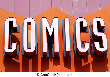 Comic Sign - Comic Book Store Sign