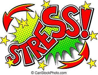 comic sound effect stress - vector illustration of a comic...