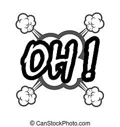 comic speech bubble icon