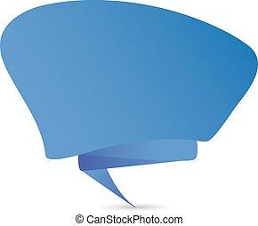 Comic speech bubble icon template