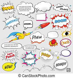 Comic Speech Bubble - illustration of colorful comic speech...