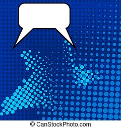 Comic Speech Bubble Pop Art Style