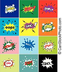 comic speech bubble set