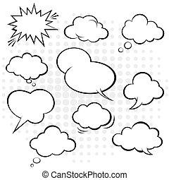 Comic speech bubble. Vector. - comic speech bubble vector.