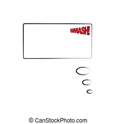 Comic speech bubble with text. Vector Illustration. Template frame in  pop art style isolated on white background. Sound effect. SMASH.