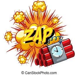Comic speech bubble with zap text