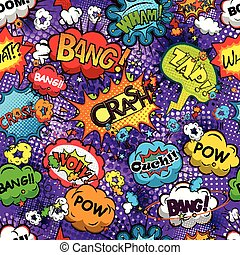 Comic speech bubbles pattern