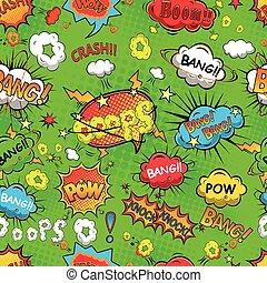 Comic speech bubbles pattern vector