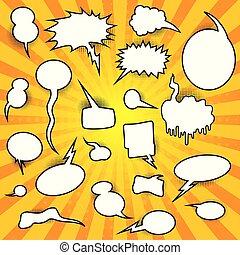 Comic Speech Bubbles Retro Collection. Vector