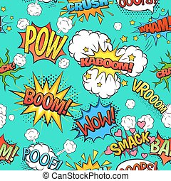 Comic Speech Bubbles Seamless Pattern Background