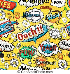 Comic speech bubbles seamless patte